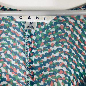 CAbi Tops - CABI BLUE GREEN SHEER BOHO BLOUSE SZ M
